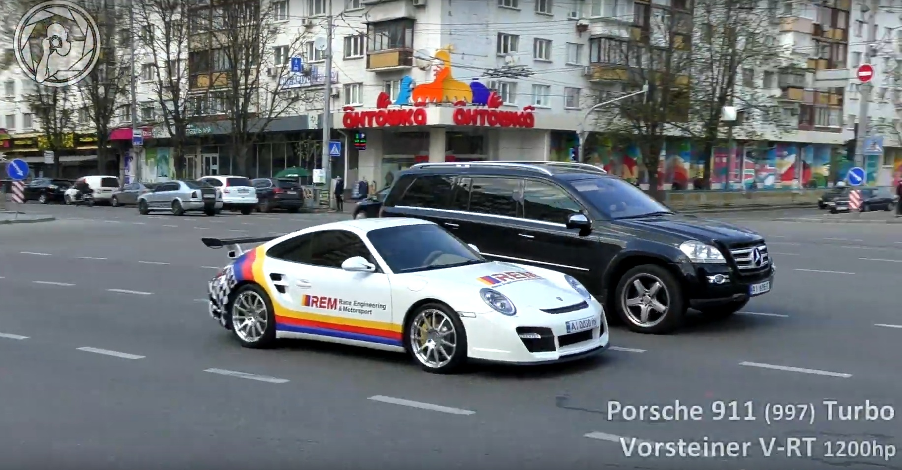 В Украине был засвечен тюнингованный Porsche 911