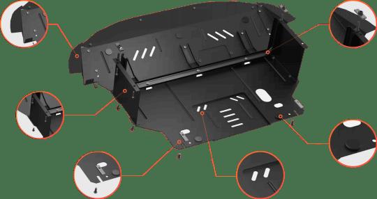Защита двигателя Кольчуга Standart